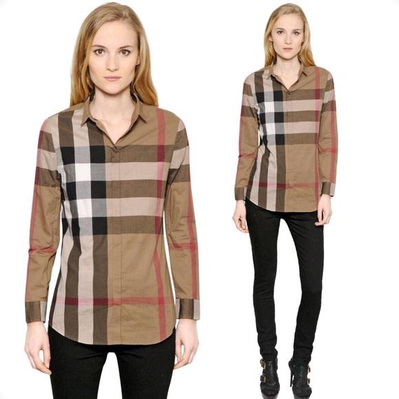 24ea0f391e08 Burberry Brit Women s Macro Check Voile Shirt